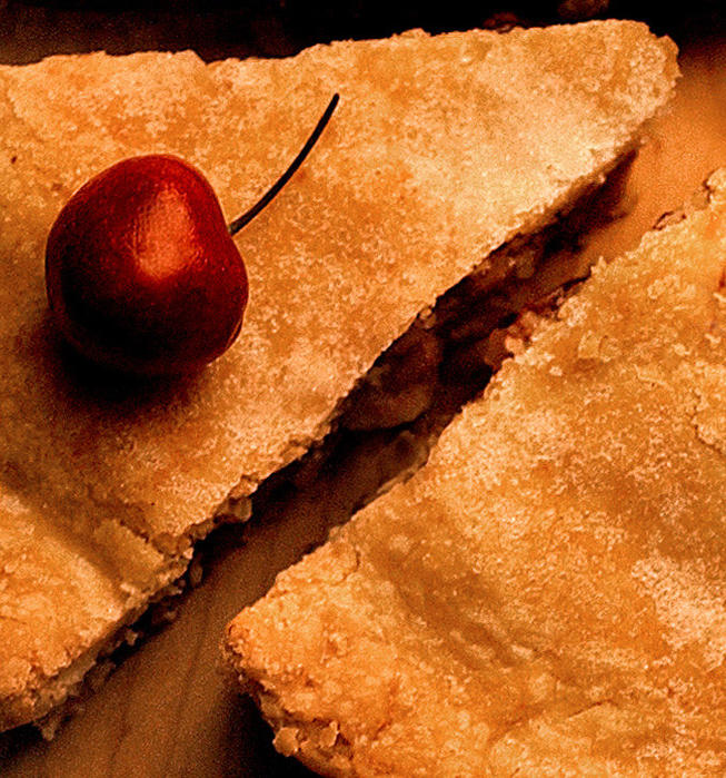 Cherry sour cream pie