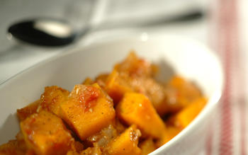 Butternut squash with sweet spices