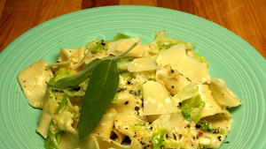 Pappardelle With Sweet Cabbage in Sage Cream Sauce