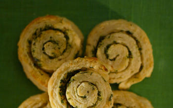 Fresh herb pinwheel biscuits
