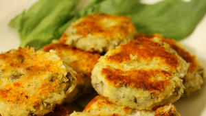 Sorrel potato cakes