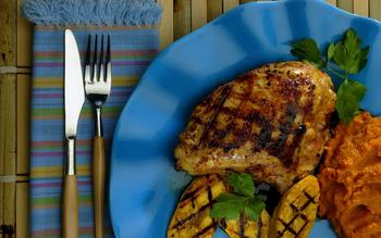 Anejo rum glazed free range chicken breast