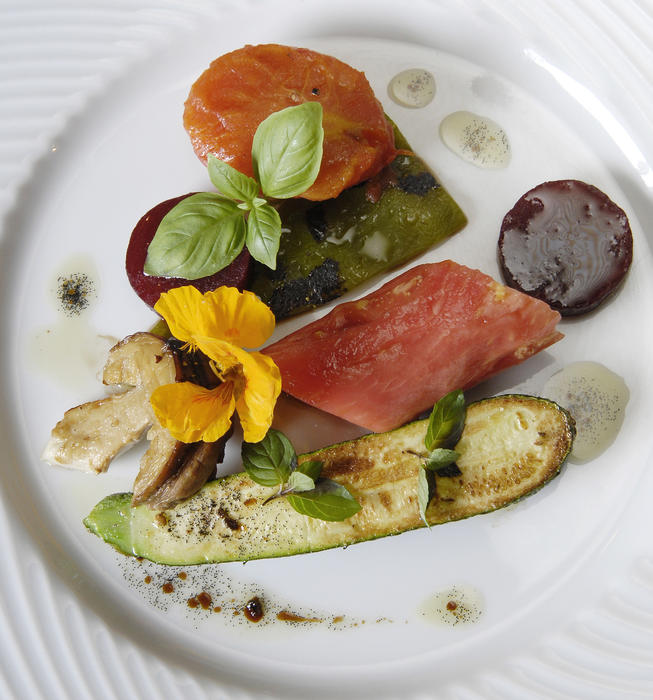 Stephane Carrade's vegetable plate