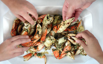Grilled Dungeness crab