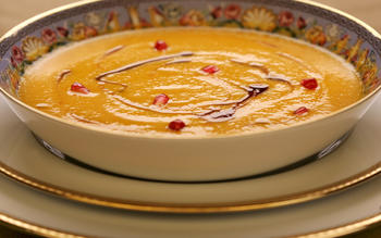 Carrot and pomegranate soup