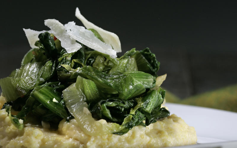 Escarole with aged Parrano cheese and soft polenta