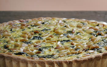 Chard and saffron tart