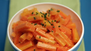Carrots with chive cream
