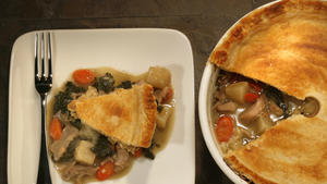 Roasted duck pot pie