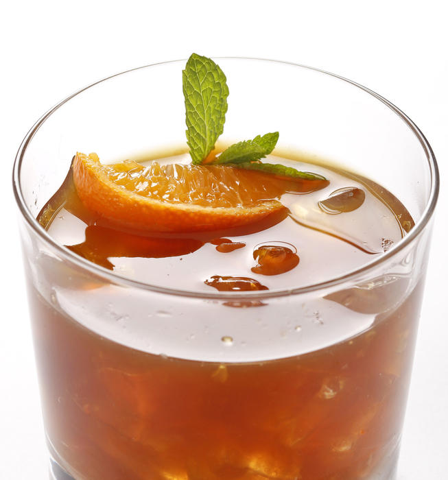 Satsuma whiskey smash