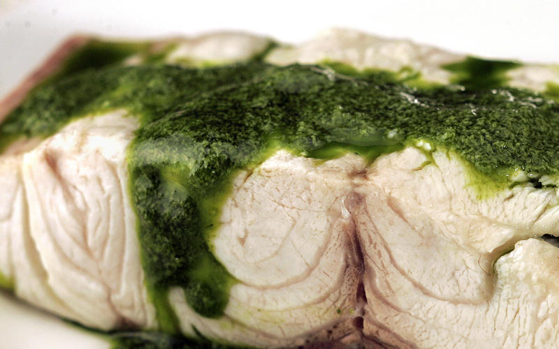 Yellowtail with fennel sauce