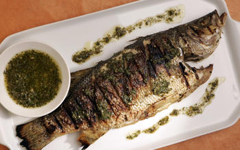 Cumin-crusted sea bass