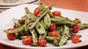 Romano beans sauteed with oregano