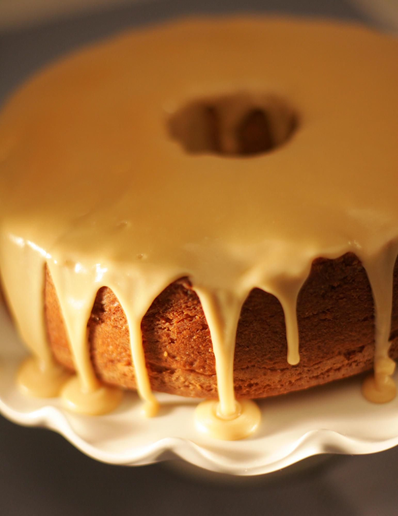 Recipe Brown Sugar Pound Cake With Caramel Glaze La