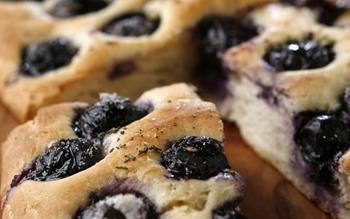 Concord grape flatbread