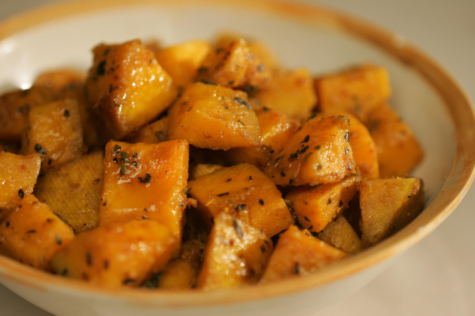 Peppery roasted squash