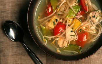 Sour fish soup with tamarind