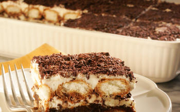 Prune and chocolate tiramisu