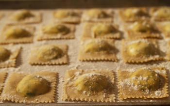 Goat cheese ravioli