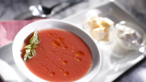 Obika's chilled organic tomato soup
