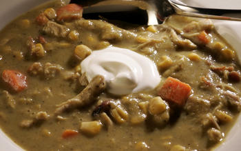 Creamy green chile and chicken stew