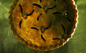 Fresh mincemeat pie