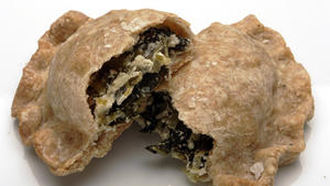 Dandelion greens and goat cheese empanadas