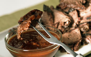 Hickory-smoked brisket with Southwestern barbecue sauce