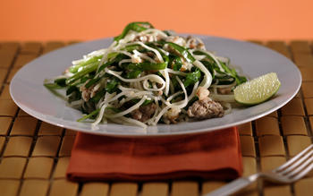 Rice, vegetable, buckwheat and other gluten-free noodle dishes