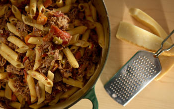 Norris Hall duck ragu