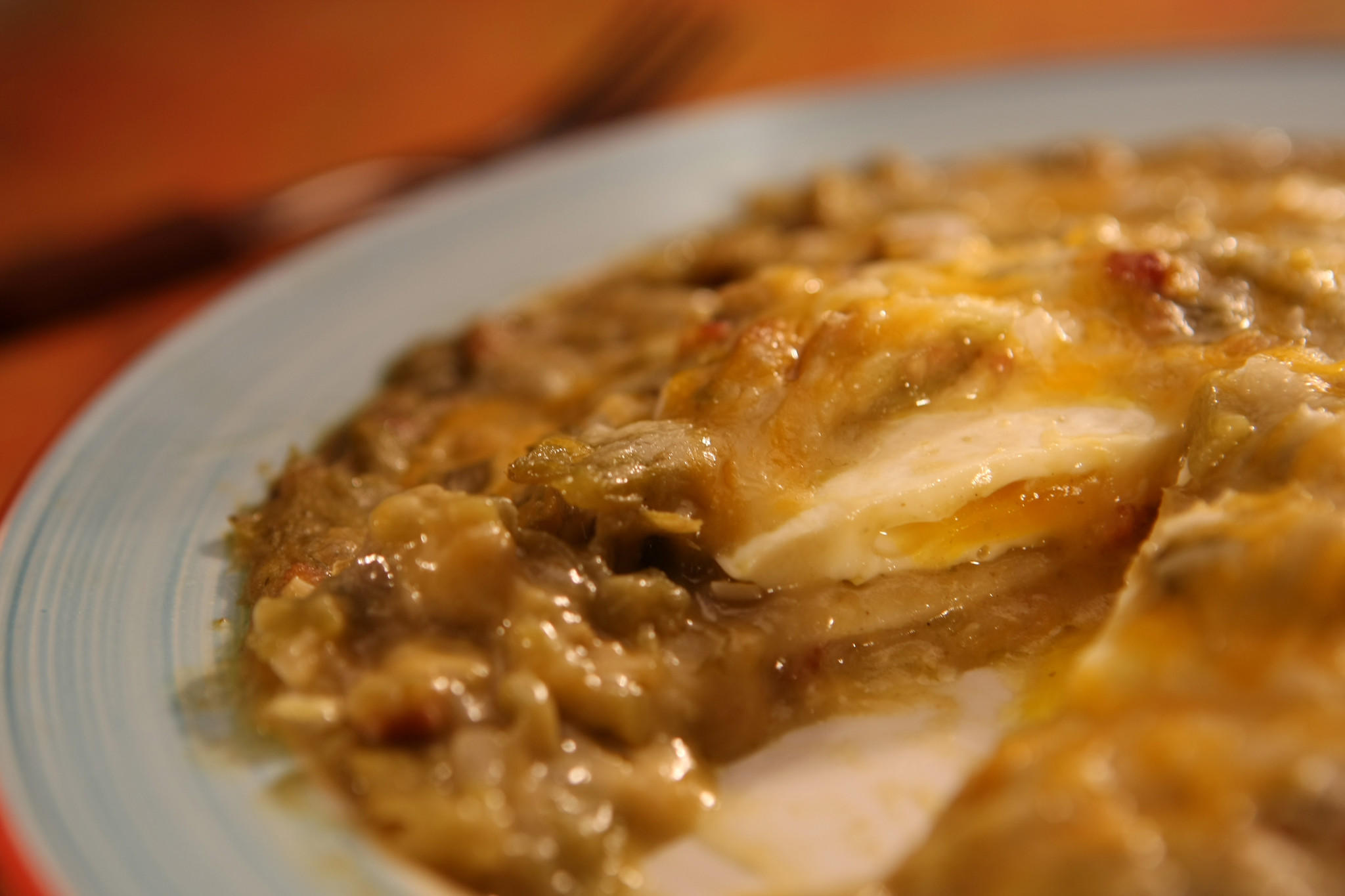 Green chile cheese enchiladas