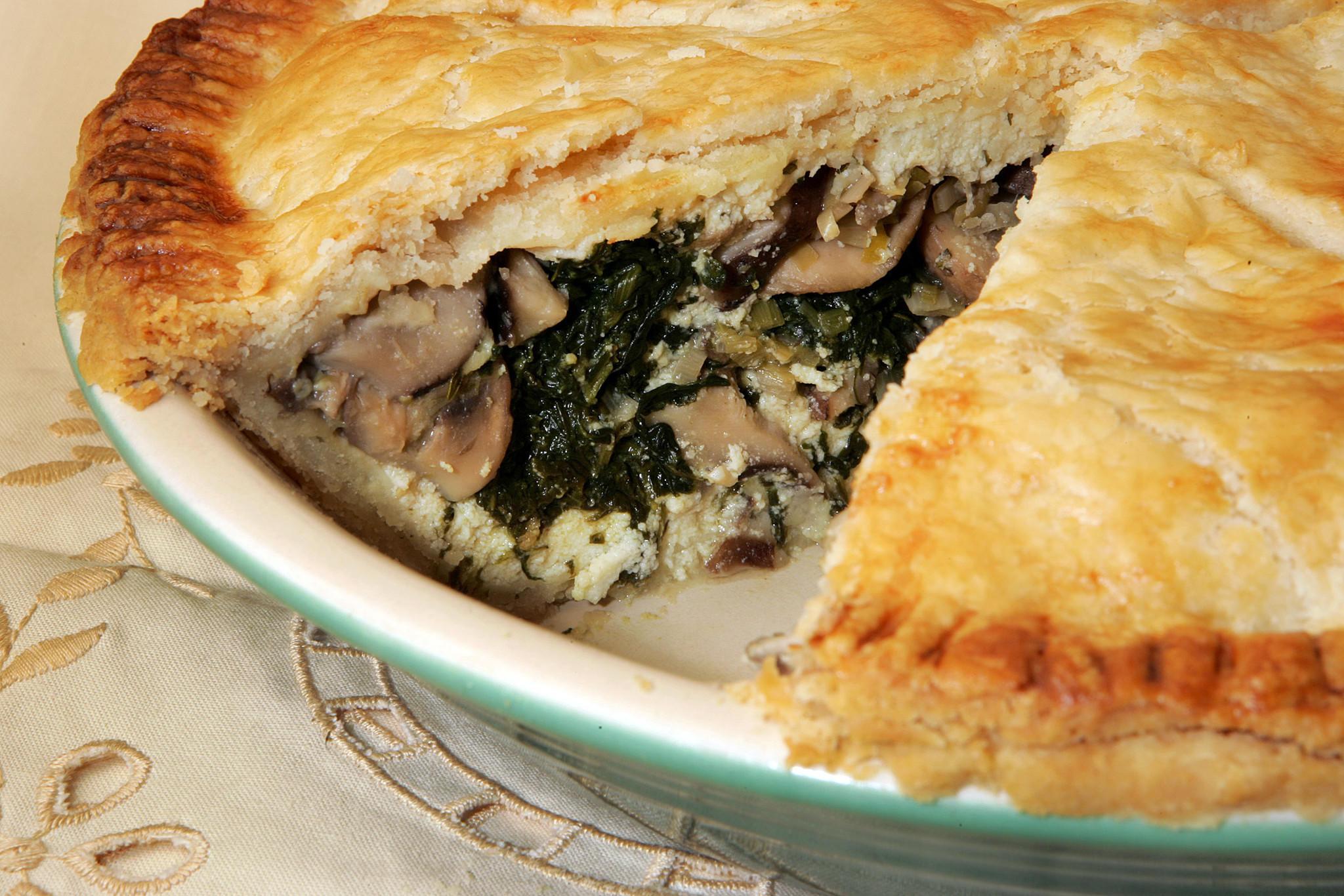Recipe Wild Mushroom Spinach And Ricotta Pie