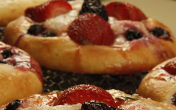 Little Dom's fruit focaccia