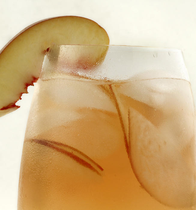 Cafe del Rey's white hot peach sangria