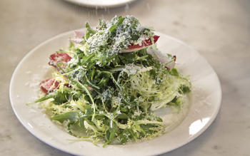Tricolore with Parmigiano-Reggiano and anchovy dressing