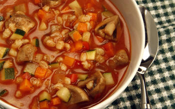 Coral Tree Cafe's vegetable soup