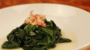 Ohitashi (spinach with dashi dressing)