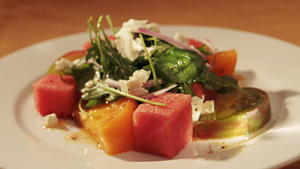The Hungry Cat's tomato and watermelon salad