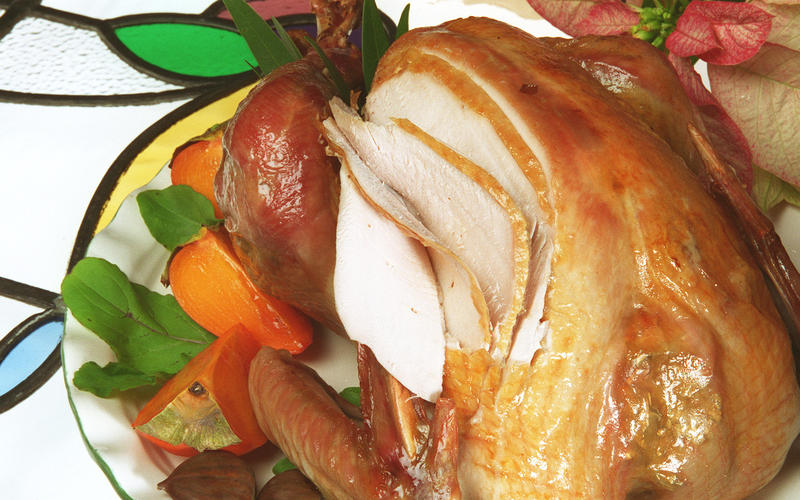 Roast brined turkey