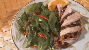 Orange-Sesame Glazed Barbecue Chicken