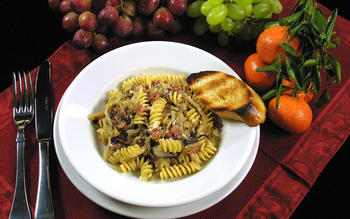 Pasta With Radicchio and Pancetta