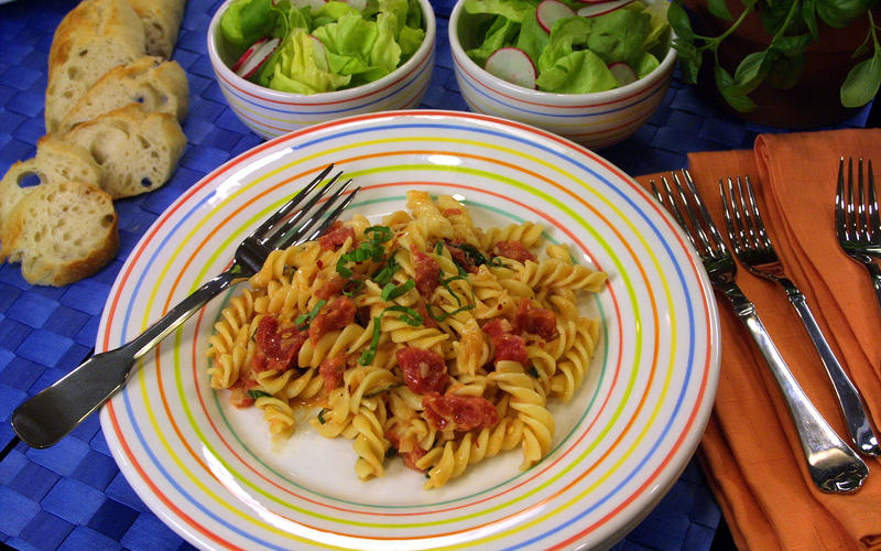 Fusilli With Tomato-Vodka Sauce