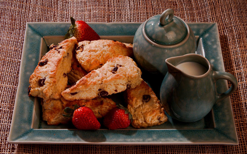 Sour Cherry and Vanilla Cream Scones