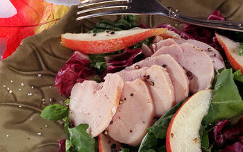 Smoked Chicken and Pear Salad With Fig Balsamic Vinaigrette