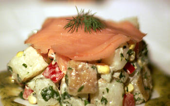 Smoked Salmon With Mini-Potato Salads