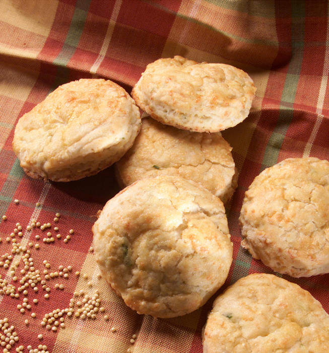 Birdseed buttermilk biscuits with cheddar cheese
