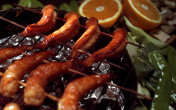 Pan-Smoked Shrimp With Orange Sauce