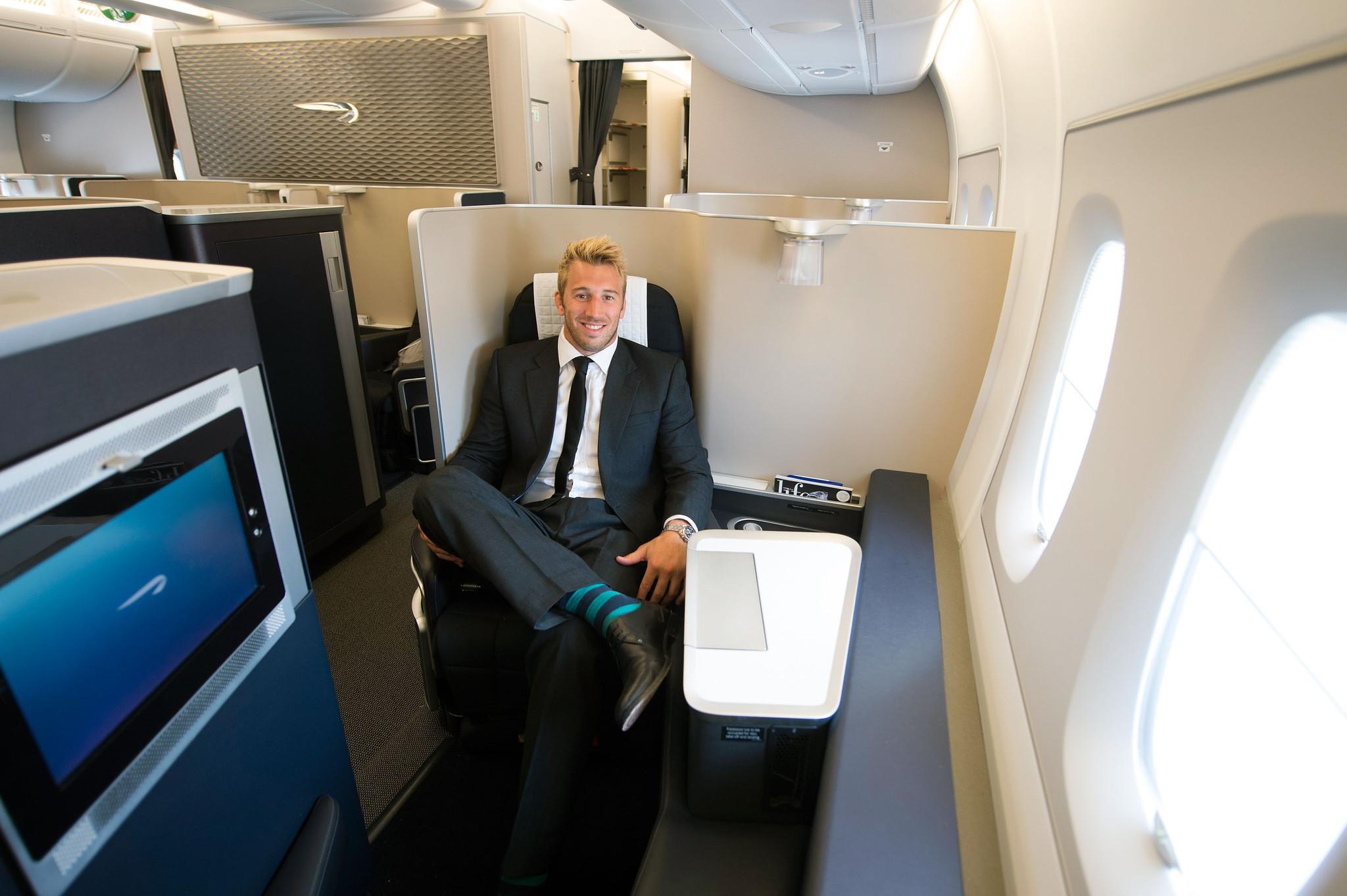 Inside British Airways Airbus A380 Jumbo Jet Chicago