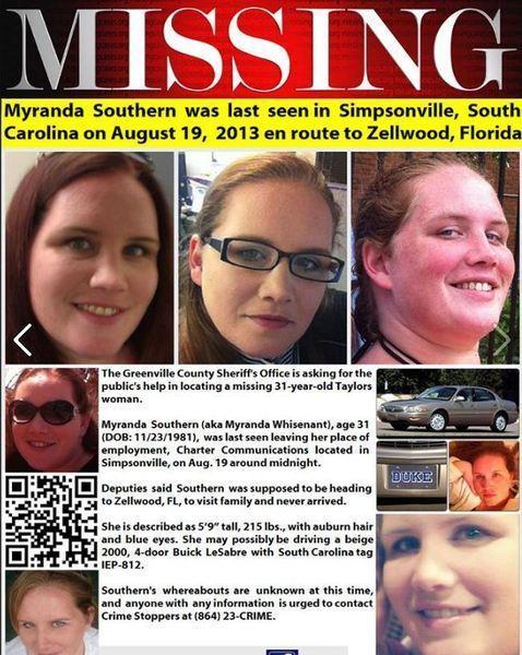 Myranda Southern missing: Vigil tonight for mom who vanished