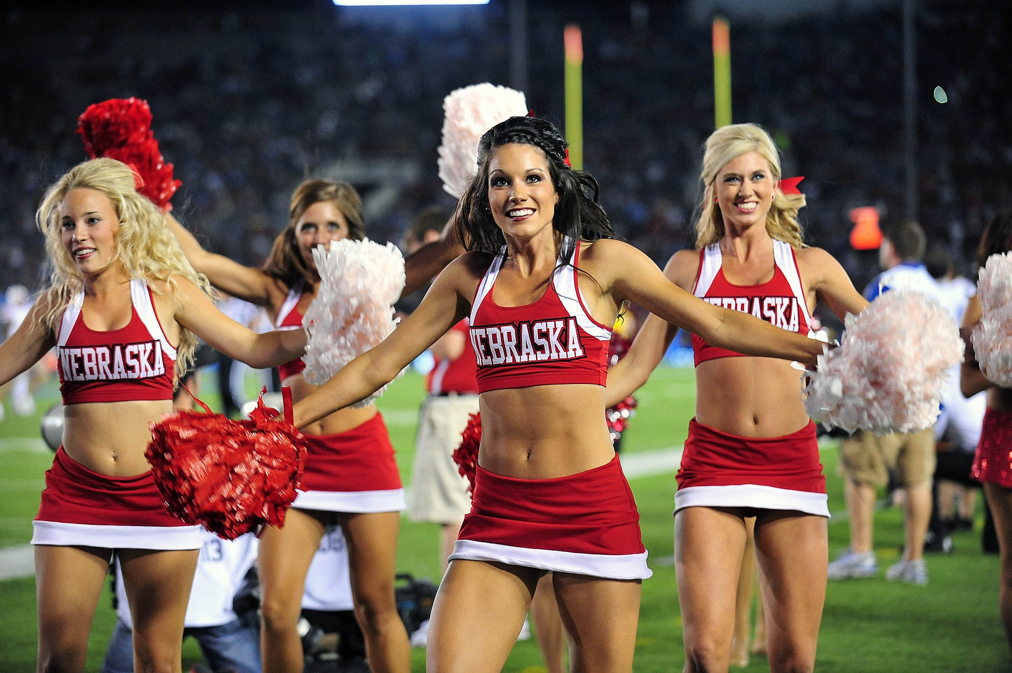 Real hot college cheerleaders